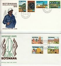 Botswana 5 First Day Covers 1970 - 1971