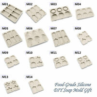 Kinds Silicone Hand Soap Molds Wax Resin Mould Plaster Clay Fondant Cake DIY