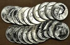 Original BU Roll of 20 1963-D Franklin Half Dollars