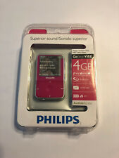 PHILIPS GoGear ViBe 4gb Pink Fuschia MP3 video player New Sealed Has