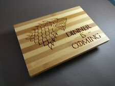 Game of Thrones Cutting Choping Board Dinner is Coming House Stark Bamboo wolf