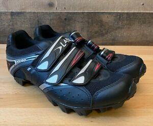 Lake MX160-W SPD Road Mountain Biking Shoes Black / White / Gray US Size 11