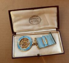Boxed silver masonic medal, Loyal Welsh Lodge 1824, Bro. A. Childs.