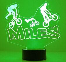 BMX Bike Sports Personalized Bicycle LED 16 Color Changing Night Light Lamp