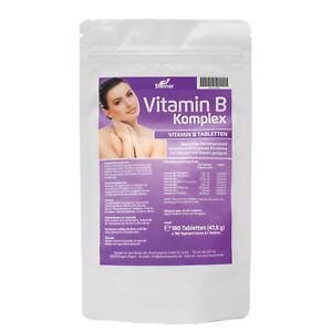 Vitamin B Komplex Tabletten hochdosiert B1 B2 B3 B5 B6 B12 Biotin Folsäure