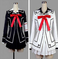 New HOT Vampire Knight Cosplay Costume Yuki Cross White or Black Womens Dress