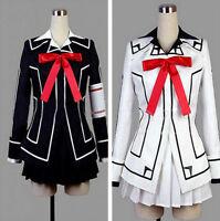 New HOT Vampire Knight Cosplay Costume Yuki Cross White or Black Womens Dress