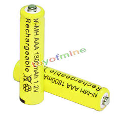 2x AAA battery batteries Bulk Nickel Hydride Rechargeable NI-MH 1800mAh 1.2V Ye