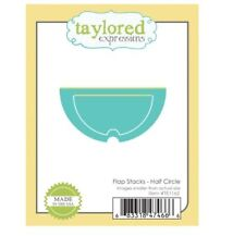 Taylored Expressions Die Set w/Magnetic card ~ FLAP STACKS - HALF CIRCLE ~TE1162