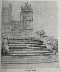 Wollaton Hall - Nottingham - 1916 Vintage Cutting Clipping Print