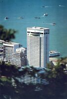 Hotel Furama Inter-Continental Hong Kong Chrome Vintage Postcard