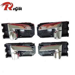 For Kia 04-09 Spectra Spectra5 Inside Driver Left Right Side Door Handle 4Pcs
