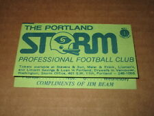 1975  WFL  FOOTBALL  POCKET  SCHEDULE THE PORTLAND STORM JIM BEAM