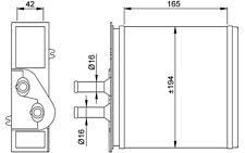 NRF Radiador de calefacción FIAT PUNTO BARCHETTA LANCIA Y YPSILON 53204