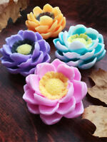 3D Magnolia Flower Soap Silicone Mold Flower Candle molds Fondant Cake Mold