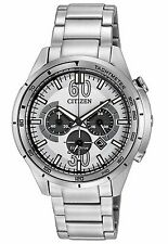 Citizen Eco-Drive Men's CA4121-57A Chornograph Stainless Steel Sport Watch