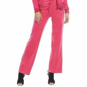 Juicy Couture Crest Embellished Velour Pant or Jogger Pants Separates Pink New
