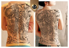 Unisex Full Big Back Large Temporary Tattoo Stickers Waterproof Flash Tattoos