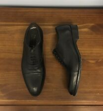"$449 + Tax To Boot New York ""Slim Round"" Cap-Toe  Black Oxfords 11US *2017!*"