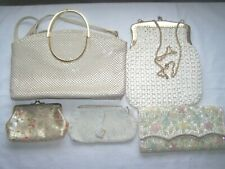 Vintage Handbags 5 Purses Beading Straw Sequins Plastic Clutch DK