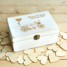 Personalized Guest Book, Rustic Wedding Guestbook, Wood Rectangle Keepsake Box