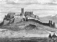 GREECE. Acropolis of Athens c1885 old antique vintage print picture