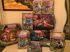 """MOTU, Masters Of The Universe Classics 7 figures and 2 Vehicles """"Open blister"""""""