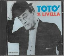 """TOTO' - RARO CD FUORI CATALOGO 1989 """" 'A LIVELLA """""""