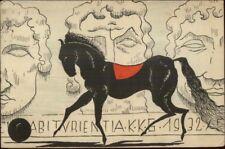Political Satire or Propaganda? Black Horse & Sculptures 1932 German Postcard