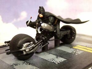 EAGLEMOSS BATMAN AUTOMOBILIA 1/43? BAT-POD BATPOD BIKE & FIGURE THE DARK KNIGHT