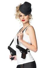 GANGSTER DOUBLE GUN HOLSTER PURSE BAG COSTUME ACCESSORY UAA1917