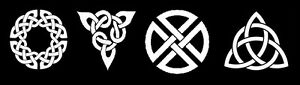Stencils Lot of 4 Celtic Knots Borders Irish Ireland Art Craft Sign Pillow 4x4
