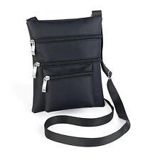 Ladies Cross Over Plain Black Bag Body Bag Adjustable Shopping