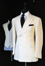 Men Ivory(Cream) Slim Fit Suit Grooms DB Wedding Party Wear (Coat+Pant+Vest)
