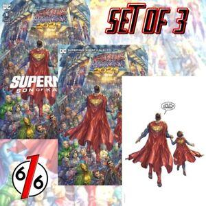 🚨💥 SUPERMAN SON OF KAL-EL #1 ALAN QUAH SET Trade & Minimal & Virgin LTD 1000