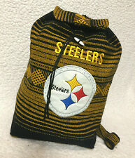 Pittsburgh Steelers NFL Hand Knitted Back Pack Size Small *football!