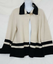 Ralph Lauren Women's Lambswool White & Black Sweater Size Large