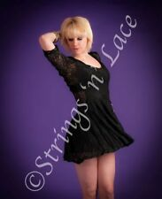Unbranded Lace 3/4 Sleeve Skater Dresses for Women