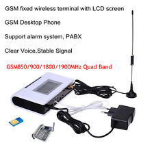 Quad Band GSM Desktop Phone GSM FWT Fixed Wireless Terminal with LCD PABX PBX