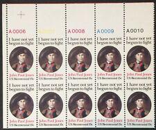 1789c, John Paul Jones Imperforate Horizontally Plate Block (10) NH Scott $625