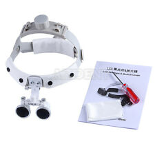 3.5X Dental Surgical Medical Headband Binocular Loupes Magnifier white