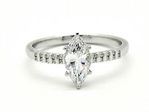 Marquise 1ct Moissanite Engagement Ring Solitaire Ring Promise ring