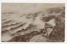 Looe Cornwall Stormy Sea 1912 RP Postcard 685b