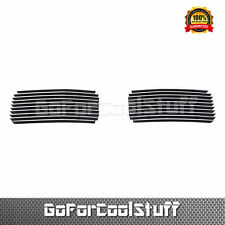 For 2005-2007 Ford F-250/F-550 Tow Hook Grille 2Pcs Bumper  Billet Grille Insert
