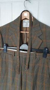 """CHESTER BARRIE bespoke Saville row Suit tweed check 40"""" R 34"""" W 32.5"""" L RARE"""