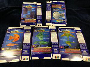Star Trek The Next Generation OREO Starships Complete Set - unpunched boxes 1994