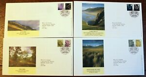 GB FDCs – New Regional Values on FDCs – 48p & 78p (4 Covers) (Le1)