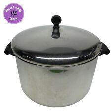 Vintage Farberware Aluminum Clad Stainless Steel 8 QT Stock Pot w/Lid