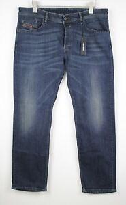 RRP €150 DIESEL WAYKEE 0814W Men W36/L32 Faded Whiskered Stretch Jeans 14916