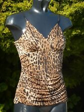 KDK London Sexy Figure Hugging Top Blouse Size 14 Summer Holiday Clubbing